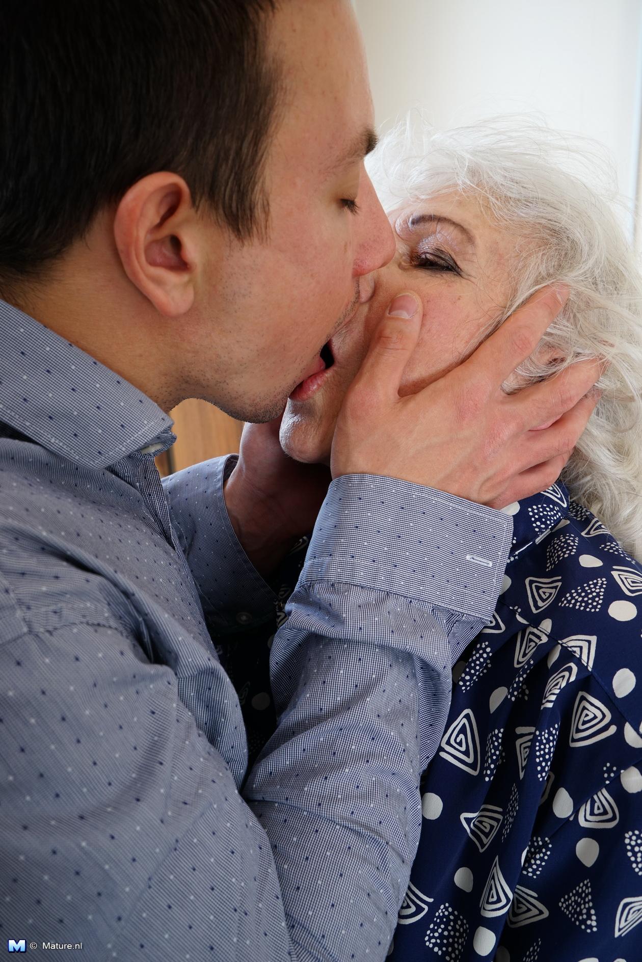 Hard kiss mature boy knelt