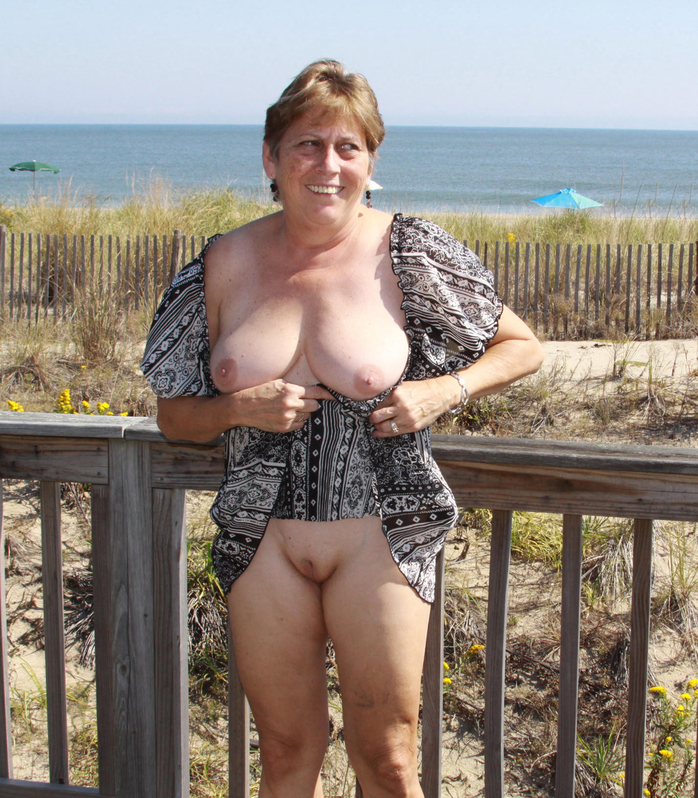 Naked Mature In Public